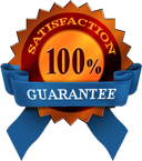 We offer a 100% satisfaction guarantee!